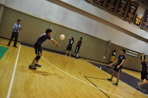 Low athlete numbers force boys Junior Varsity volleyball to get creative