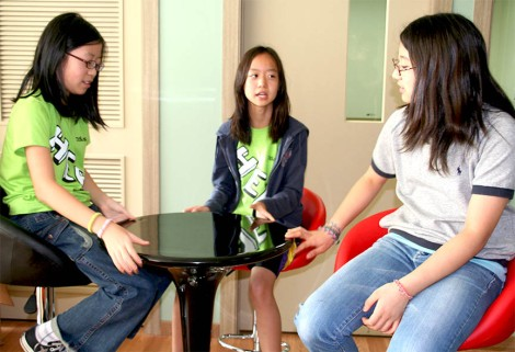 2009-2010 SEW- Photo of Hanna Nam, Olivia Jeong, and Angela Park. Angela is now an alumni and Hanna is in her senior year of high school. Hanna is author of this article.